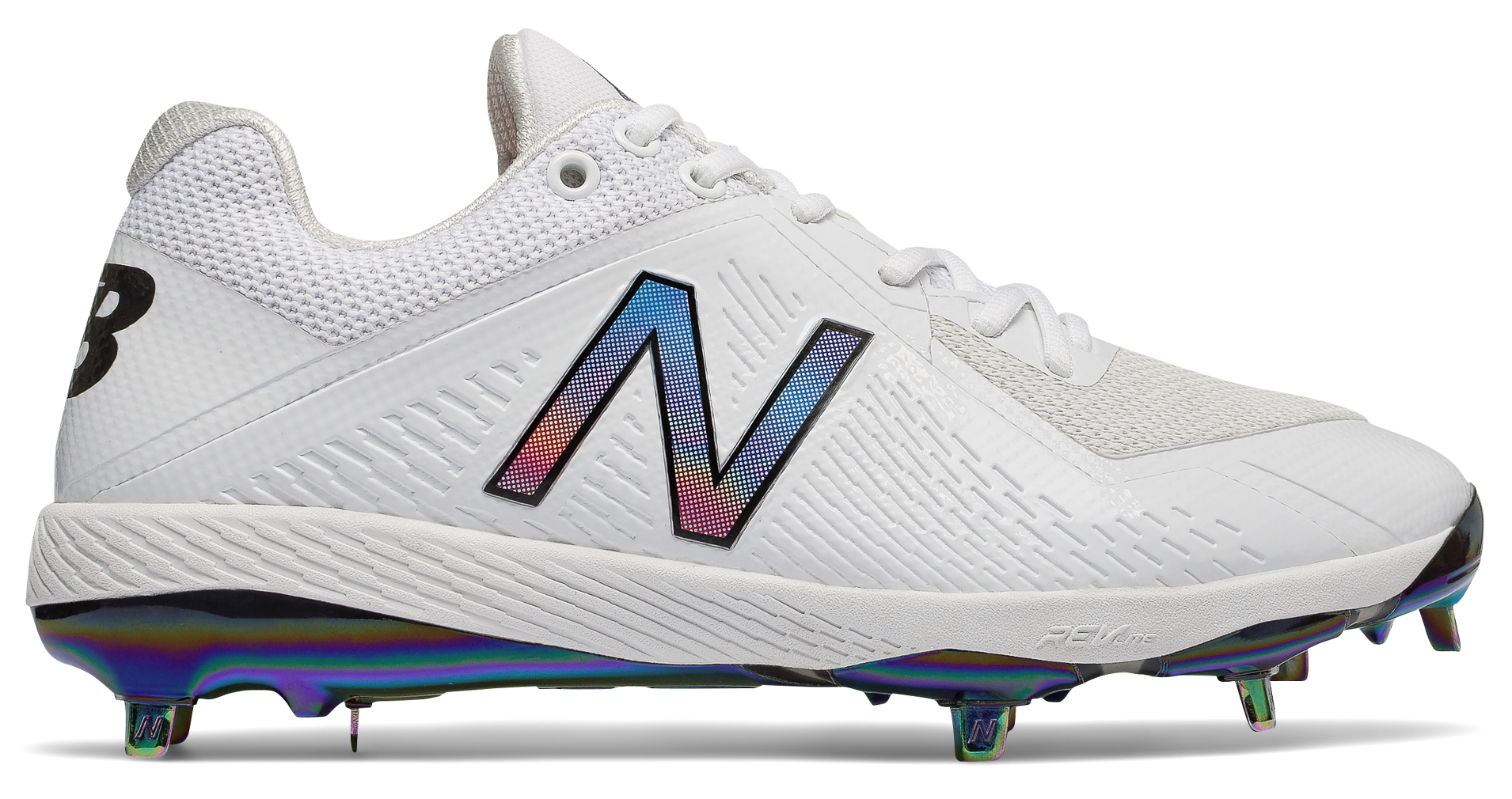New Balance L4040v4 All Star Game Men\u0027s Low Metal Cleats \u2013 White